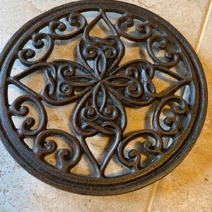 Other - Cast Iron Trivet hot pot holder